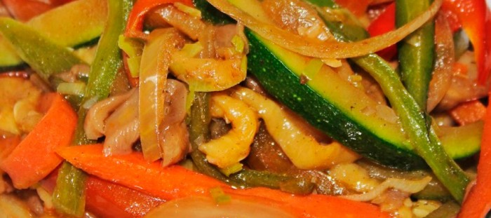 Salteado de verduras al estilo Thai