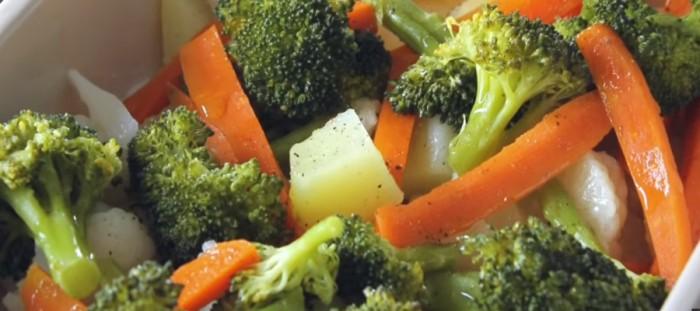 Verduras al vapor con kamado