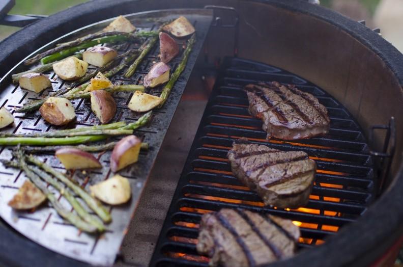 Cocina profesional con carbon
